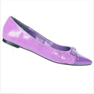 White House Black Market Women's Purple Flats 6 M